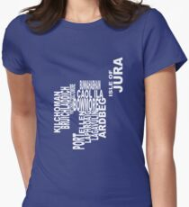 Islay Distillery Map Women's Fitted T-Shirt