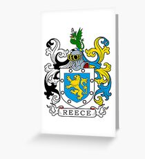 Reece Coat of Arms Greeting Card