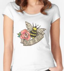 SAVE the Bees! Women's Fitted Scoop T-Shirt