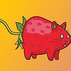 Strawberry Cat by Samantha Moore