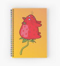Strawberry Cat Spiral Notebook