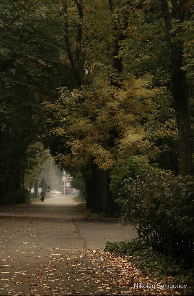 Mid-October Alley by Nikolay Semyonov