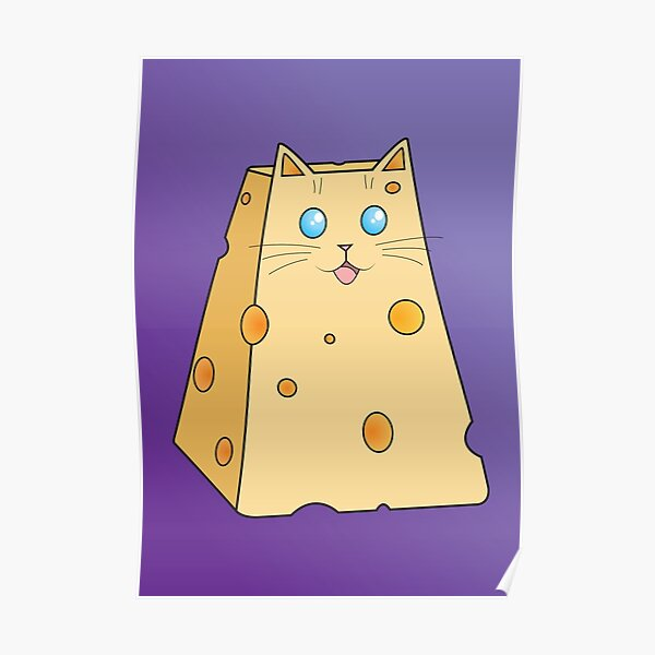 Cheese Cat Poster