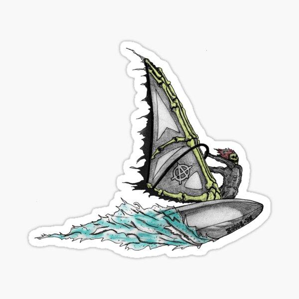 Ghost Windsurfer Sticker