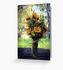 Sunflowers. Greeting Card