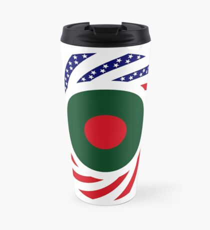 Bangladeshi American Multinational Patriot Flag Travel Mug