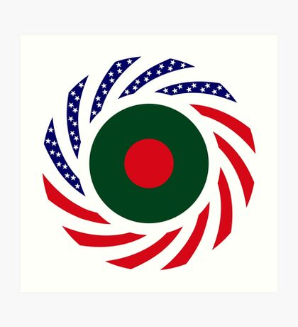 Bangladeshi American Multinational Patriot Flag Art Print
