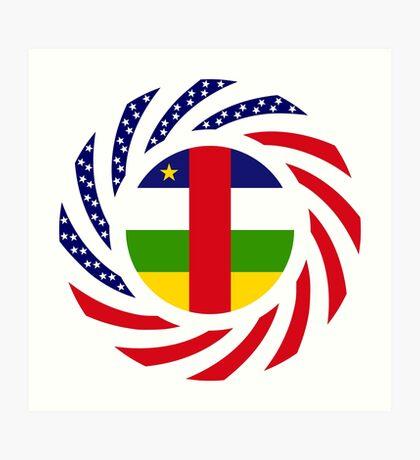 Central African Republic American Multinational Patriot Flag Series Art Print