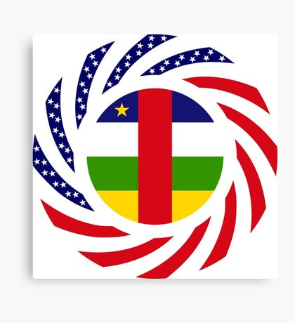 Central African Republic American Multinational Patriot Flag Series Canvas Print