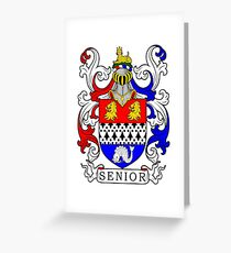 Senior Coat of Arms Greeting Card