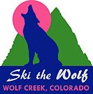 Ski the Wolf Creek Colorado Vintage Travel Decal by hilda74