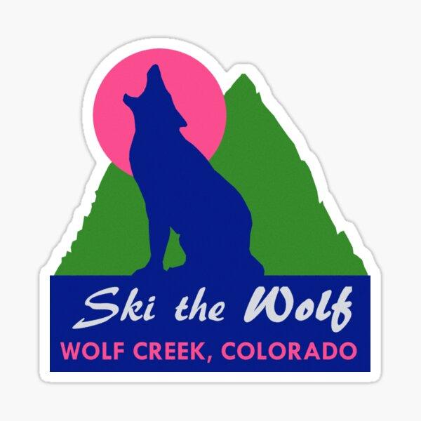 Ski the Wolf Creek Colorado Vintage Travel Decal Sticker
