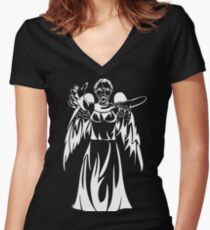 Can you see them in the dark? Women's Fitted V-Neck T-Shirt