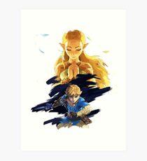 the legend of Zelda Breath of the wild Art Print
