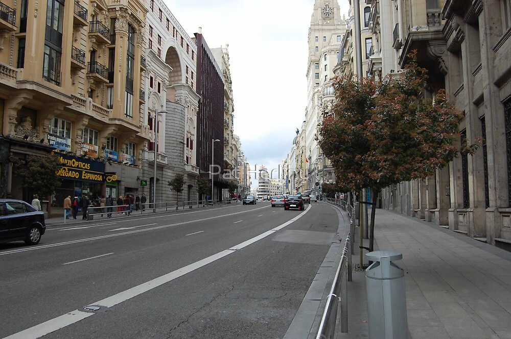 Madrid Sreeetscape by Pat Herlihy