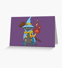 Hairy Magician Greeting Card