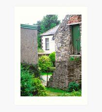 Farm Buildings and Farm House, Donegal, Ireland Art Print