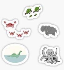 Pixel Critters Sticker