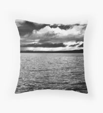 Angry Sky - Inch Island, Donegal, Ireland Throw Pillow