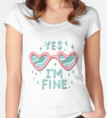 yes i'm fine Women's Fitted Scoop T-Shirt