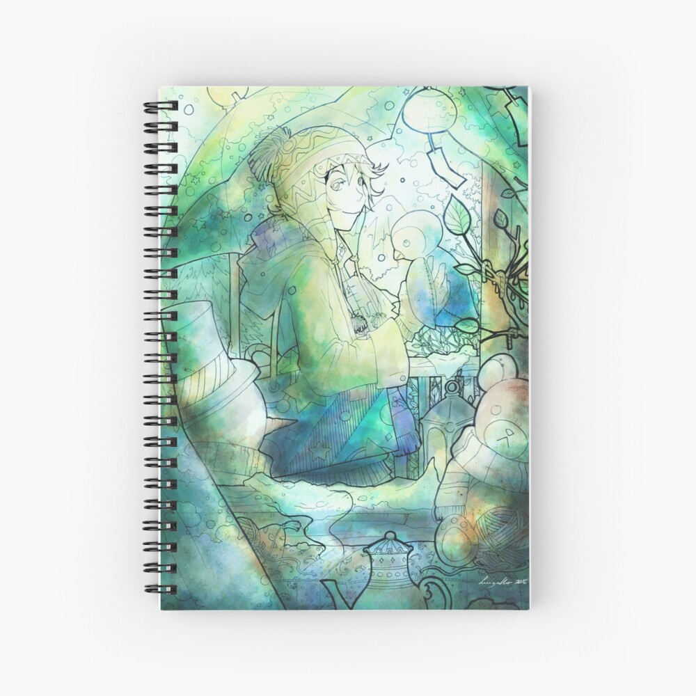 L'Hiver - Winter Spiral Notebook