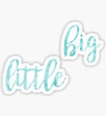 big sister little sister blue wave set Sticker