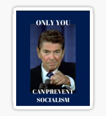 Only You Can Prevent Socialism Sticker