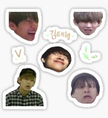 BTS V - Sticker Sheet Sticker