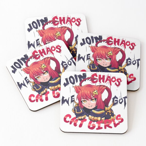Join Chaos, we got Cat Girls! Coasters (Set of 4)