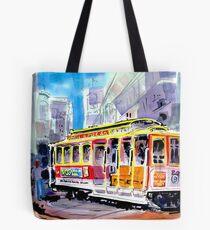 Trolley Turn Around San Francisco Tote Bag