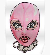 Pink Latex Hood Poster