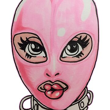 Pink Latex Hood by thethingsidraw