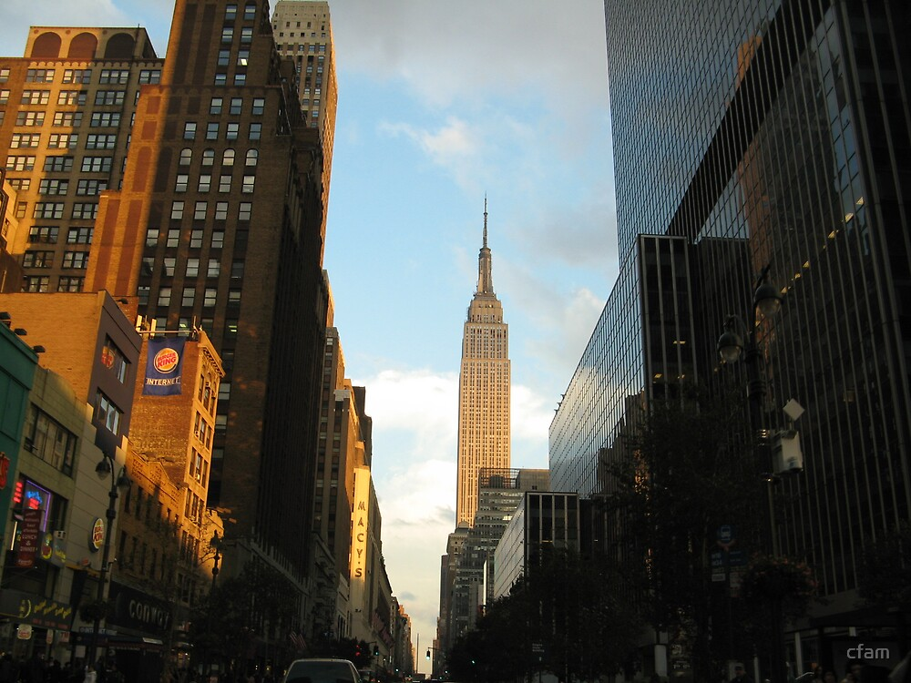 My first real glimpse of Empire State Building by cfam