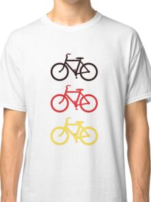 BLACK RED YELLOW BICYCLE PATTERN Classic T-Shirt