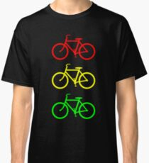 RED YELLOW GREEN BICYCLE PATTERN Classic T-Shirt