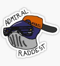 Admiral Raddest Sticker