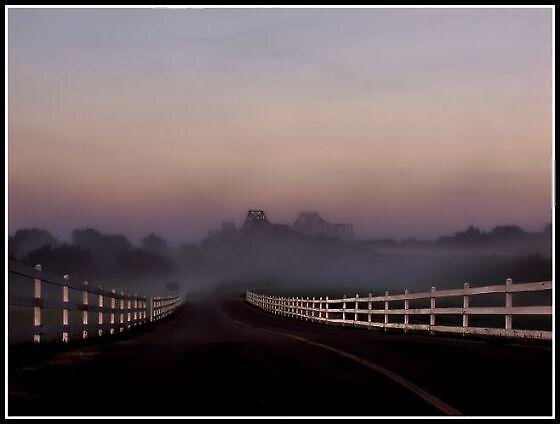 Foggy Morning Sunrise by ladywings