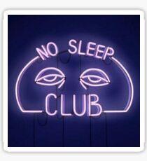 No Sleep Club Neon Sign Sticker