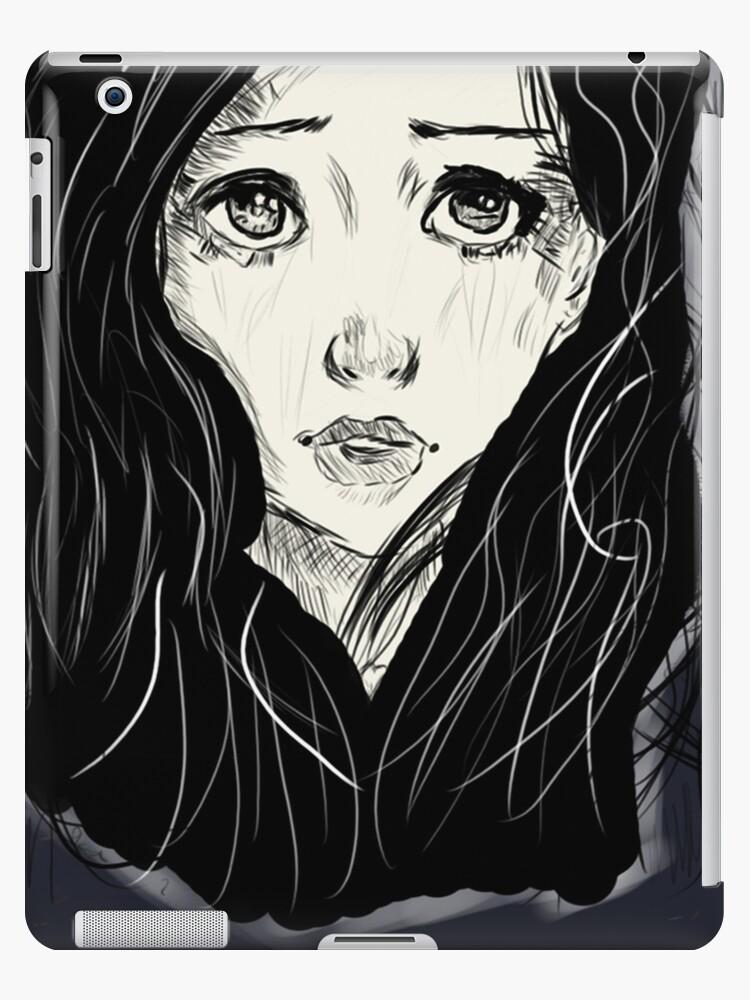 Sad Girl Drawing Ipad Caseskin By Haydenmac