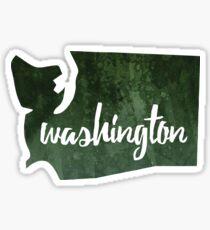 Washington [dark green] Sticker