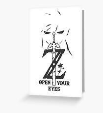 Breath of The Wild: Link's Revenge (Black) Greeting Card