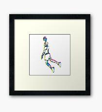 Michael Jordan retro 80's tribute artwork Framed Print