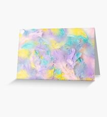 Pastel Feathers  Greeting Card