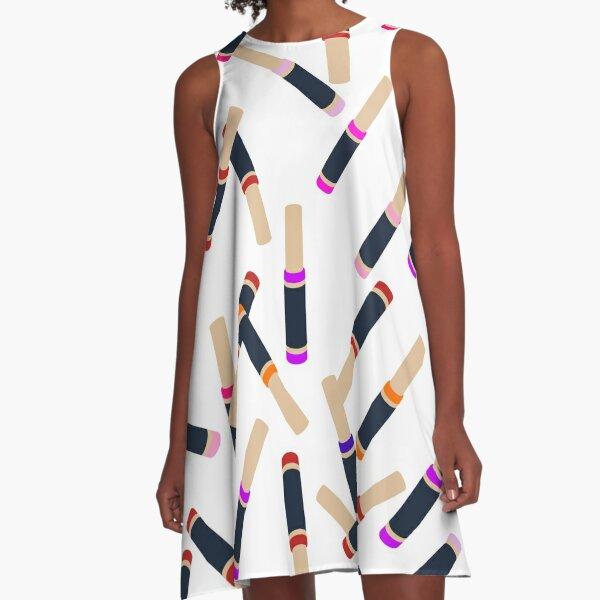 Lip Collage A-Line Dress