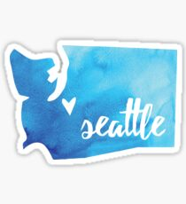 Seattle, Washington [blue] Sticker