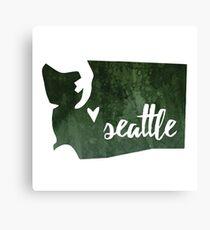 Seattle, Washington [green] Canvas Print