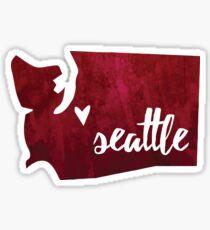 Seattle, Washington [burgundy] Sticker