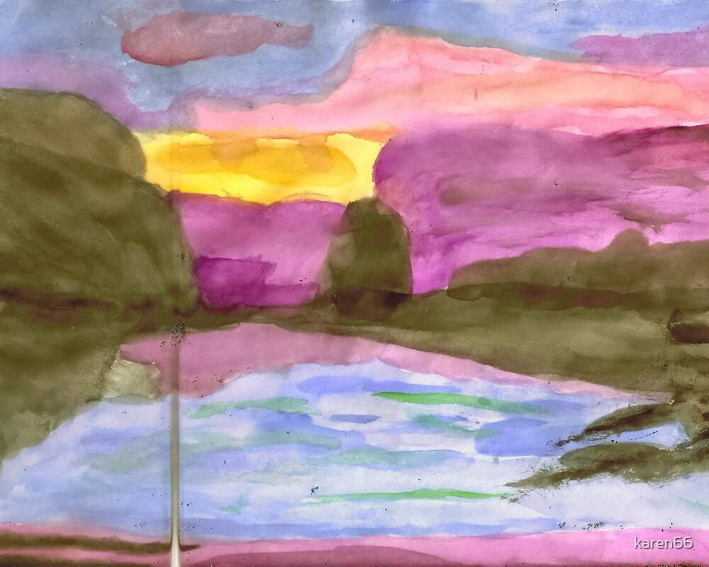 Watercolor Scene by karen66