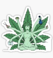 MARIJUANA WEED GODESS Sticker