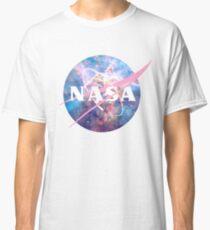 Pastel Nebula Nasa Logo Classic T-Shirt